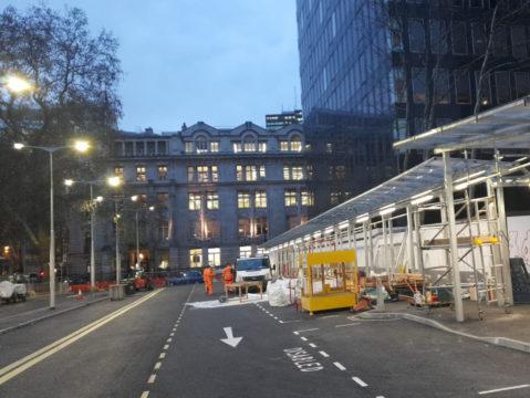 Euston Station Taxi Rank - Highway Diamond Shelter Storm LED