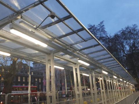 Euston Station Taxi Rank - Shelter Storm LED (1)
